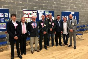 Skegness Urban District Society (SUDS) candidates celebrating their  success in the local elections. ANL-190405-071826001