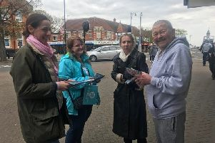 Annunziata Rees-Mogg and Brexit Party candidates for Lincolnshire and the East Midlands in the Europeon Elections met members of the public  in Skegness on Bank Holiday Monday. ANL-190605-165430001