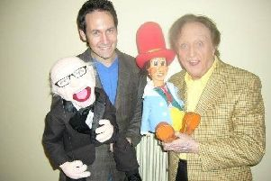 Steve Hewlett with the late Ken Dodd.
