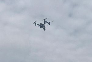 Lincolnshire Police chose a remote area of the coast at Leverton for a drone training exercise.