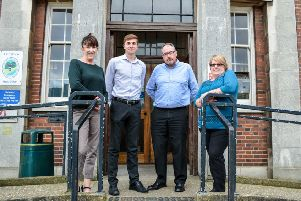 Members of the Rough Sleeping Prevention Team ' (from left) Sandra Birks, senior homelessness officer, Jordan Flower, homelessness officer, Dave Ricketts, homelessness officer, Carol Rippin, rough sleeping prevention coordinator. An outreach worker and in-reach and resettlement worker to be recruited.