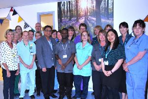 The urology team in the new unit at Eastbourne DGH SUS-191006-141407001