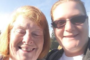 Raising funds to help find a cure for dementia, Louise Dennis, of Skegness, and her mum.