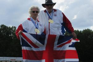 Iris Bingham and Graeme Mooney at the World Championships in Germany