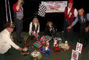 Members of East Coast Steampunks prepare for the start of the race. Images supplied.