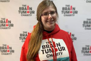 Amie Sutton has become a young ambassador for The Brain Tumour Charity