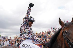 Khadijah Mellah celebrates her win on Haverland / Picture: Getty Images