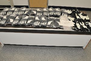 Drugs were found hidden inside imported motorcycles gloves