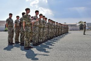 READY FOR ACTION: Soldiers from 1st Battalion The Princess of Wales's Royal Regiment have arrived in Cyprus. Photo: 1PWRR