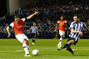 Luke Bolton saw this late effort blocked against Sheffield Wednesday