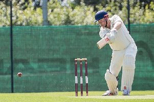 Charlie Robards on his way to a top score of 44 for Rugby CC 2nds on Saturday