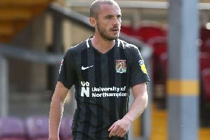 Michael Harriman on debut for the Cobblers. Picture: Pete Norton