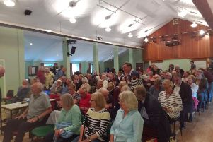 A public meeting takes place in Winslow about plans for the Oxford to Cambridge Expressway