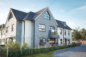 The new homes at new Sandlands Point in East Wittering