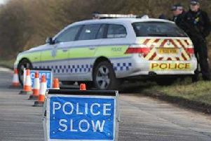 "Police are asking motorists to avoid the A52 near W""ainfleet."