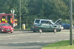Scene of the accident along the A16 in Spilsby.