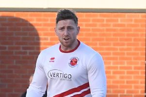 Skegness Town's Loz Lambley.