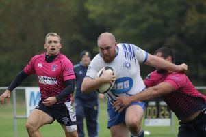 Charlie Robinson on the attack for Peterborough Lions against Stourbridge. Photo: Mick Sutterby. picturethisphotography.