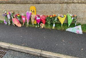 Floral tributes to Eliza Bill, 16, of Threekingham, who died on Monday afternoon in a collision with a lorry.