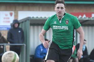 Ryan Oliver made it five goals in four appearances for Sleaford Town this term EMN-190114-170301002