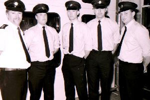 Sleaford and Metheringham fireman back in January 1970. EMN-190117-192207001