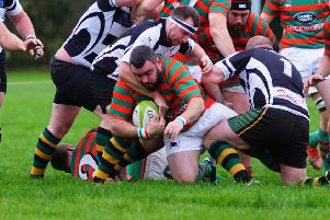 Pete Southwell claimed Rasen's winning try against Matlock last time out Picture courtesy of Jon Staves EMN-190402-110330002