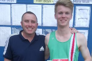 Kieran Gillespie with dad and coach Jim.