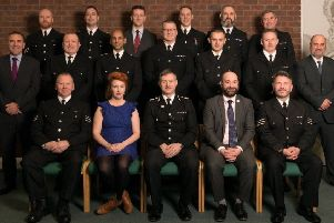 Award winners with Shadow Policing Minister Louise Haigh, Chief Constable Bill Skelly and Lincolnshire Police and Crime Commissioner Marc Jones. EMN-190802-142153001