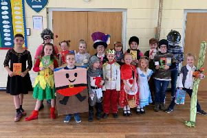Youngsters at Ruskington's Winchelsea School were among those to turn up in book-related costumes for Word Book Day 2019.