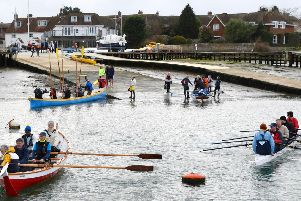 Itchenor's rowing rally / Picture by Mary Pudney