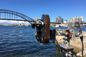 Marcus Robinson's 35mm cameflex and motion control rig, filming in Sydney
