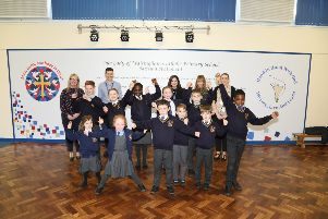 Staff and pupils at Our Lady of Walsingham are celebrating being in the top three per cent of schools for progress between KS1 and KS2 NNL-190314-164657005
