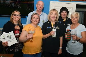Spring Gin Fest at Sleaford Cricket Club, organised by The Rotary Club of Sleaford. Some of the organiser and helpers L-R Michelle Greenwood, Gemma Familton, David Leech, Kirsty Dickinson, Ann Waldeck, Julia Bradley. EMN-190318-091355001