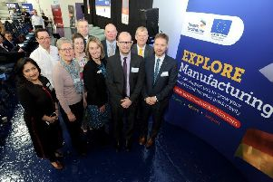 Speakers at the Greater Lincolnshire Manufacturing Conference, held in Sleaford.
