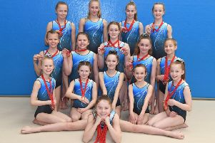 Sleaford Gymnastics Club medal winners from the Tulips invitational team event, in Spalding EMN-190328-112826002