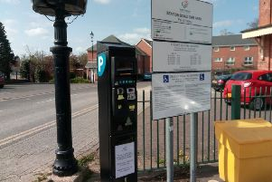 One of the new parking ticket machines in Station Road car park in Sleaford. EMN-190104-175426001