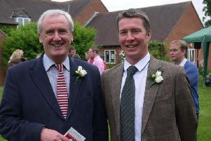 Retired Sibford School head teacher Michael Goodwin with current head Toby Spence