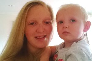Nicole Rolls pictured with her baby son Archie, who passed away suddenly in September, 2016.