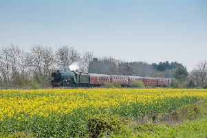 The Flying Scotsman passing through the Sleaford area last year, photo by Paul Cook. EMN-191204-172457001