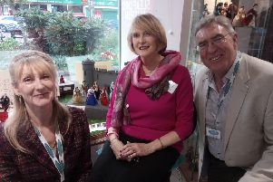 Jacqui Cleaver - Sleaford Museum Curator, Mark Bamford - chairman and Jan Spooner - vice-chairman with the new dolls display. EMN-190904-131712001