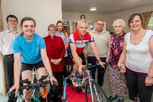 Young and old involved in the charity cycle ride at St Andrew's Care Home, Ewerby. EMN-190804-105559001