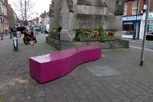 Vibrantly coloured seating and planters are being trialled in new places around Sleaford town centre by NKDC. EMN-190415-135709001
