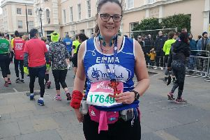 Sleaford nurse Emma Winter intends to run the London Marathon in aid of Mind charity for mental health. EMN-190416-133723001