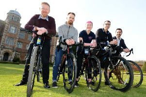 Gearing up for Cycle Fest at Doddington Hall.