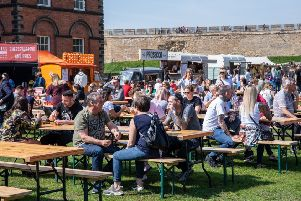 15,000 food and drink fans enjoyed the Chow Down festival in Lincoln over the Easter weekend. EMN-190205-122510001
