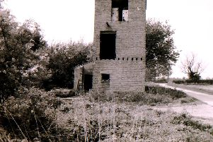 Tumbledown buildings - all that remained of RAF Folkingham back in 1994. EMN-190520-131625001