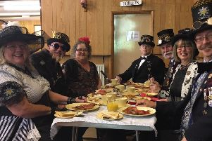 Heckington's steampunk group turned up for breakfast too. Photo: Jacki Wright EMN-190406-000414001
