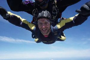 Gerry Slater on his skydive for charity. EMN-190306-170636001