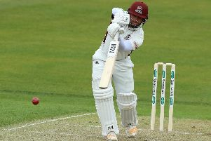 Ricardo Vasconcelos hit a century on the second day at Durham