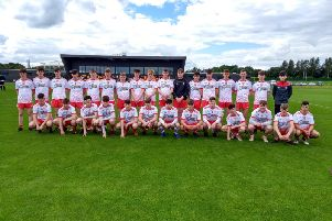 The Derry panel who defeated Offaly in Abottstown at the weekend.